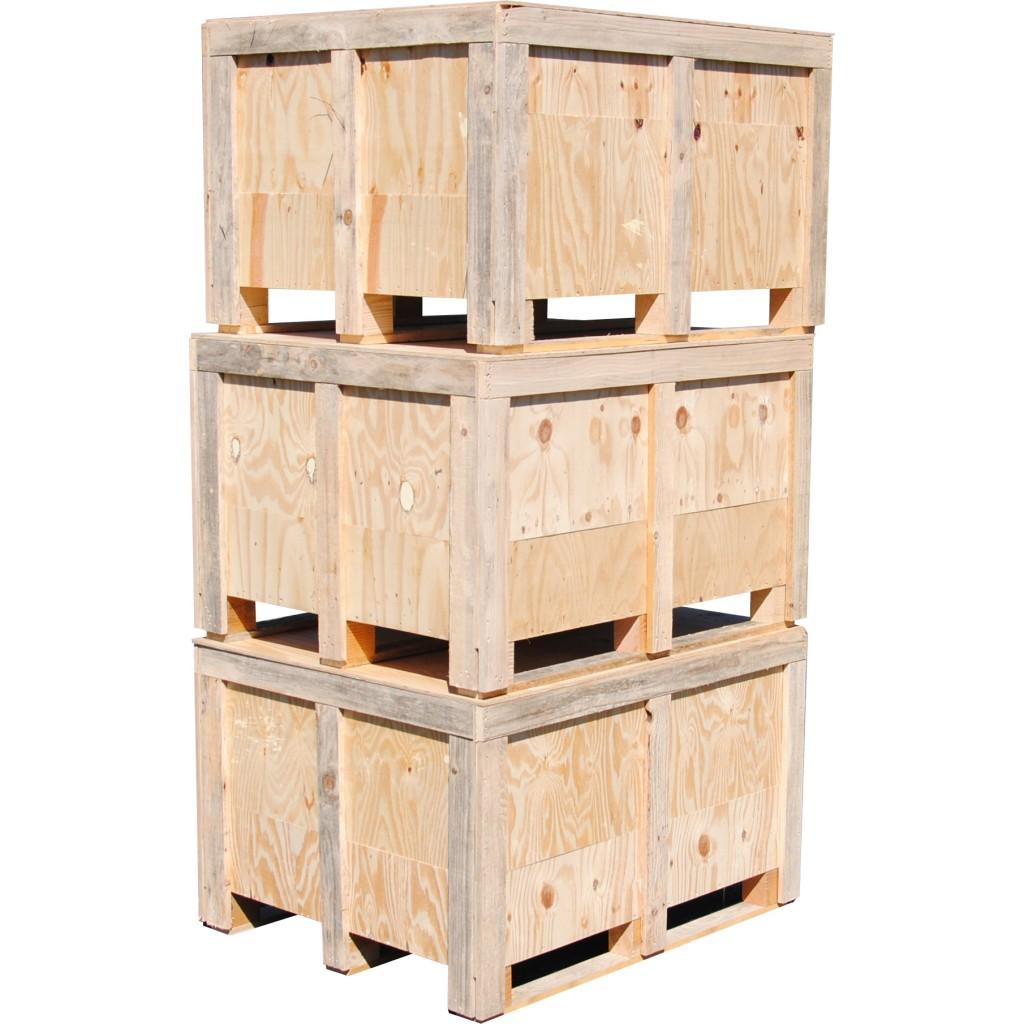 lot de 3 caisses en bois hautes. Black Bedroom Furniture Sets. Home Design Ideas